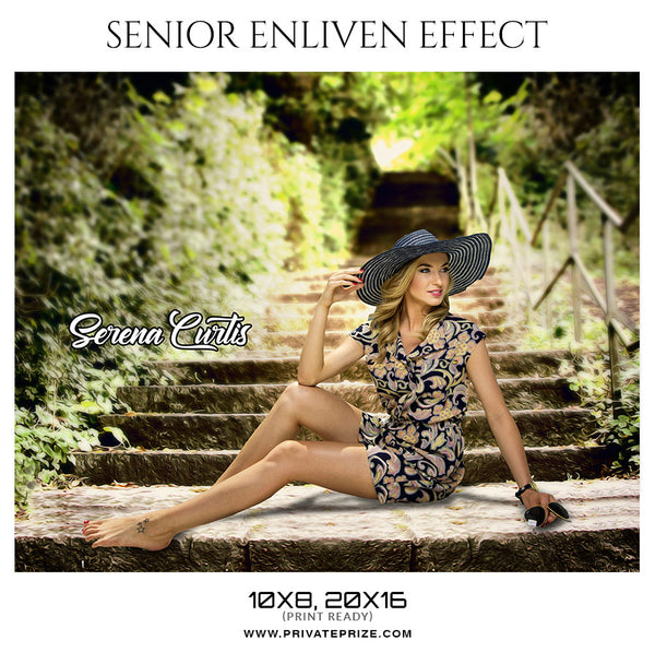 Serena Curtis  - Senior Enliven Effect Photography Template - Photography Photoshop Template
