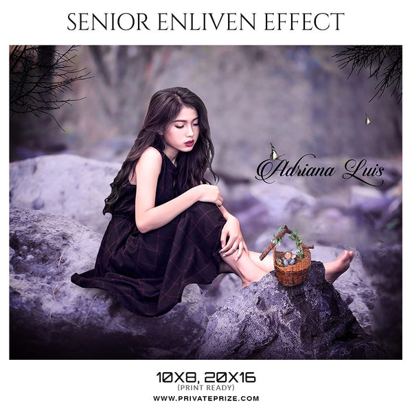 Adriana-Luis - Senior Enliven Effect Photography Template - Photography Photoshop Template