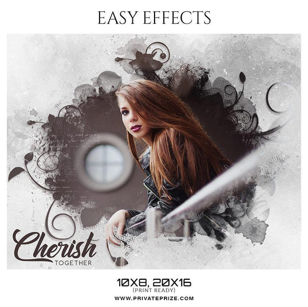 Cherish Together - Valentines Easy Effects Templates - Photography Photoshop Template