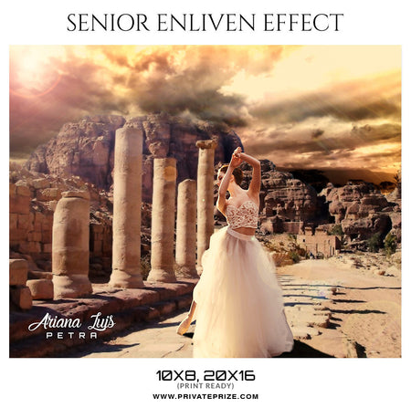 Ariana Luis- Petra - Senior Enliven Effect Photography Template - Photography Photoshop Template