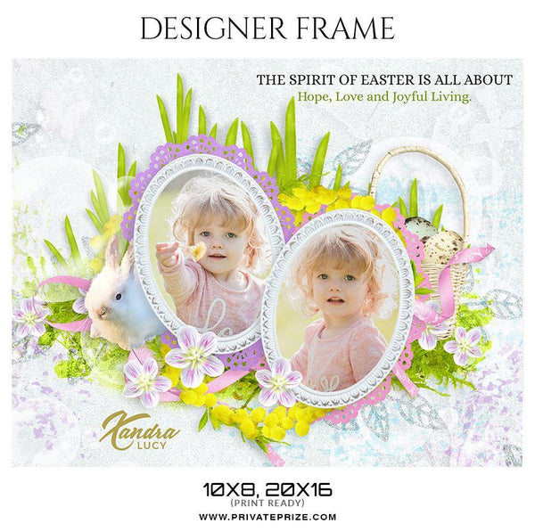 Xandra Lucy - Kid's Designer Frame Templates - Photography Photoshop Template