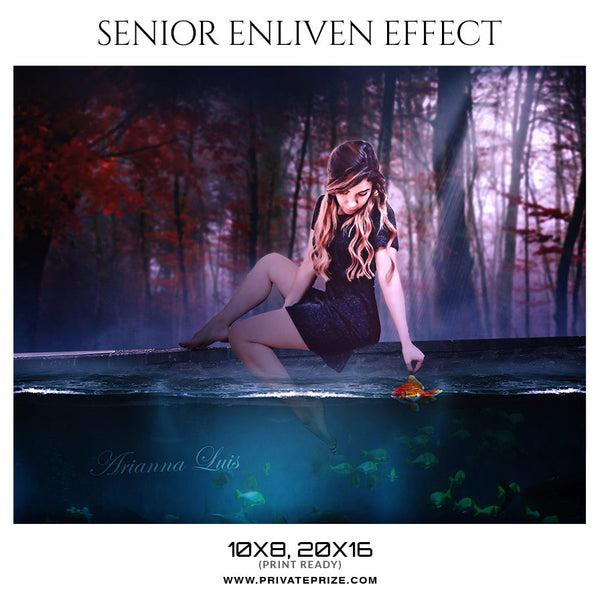 ARIANNA - SENIOR ENLIVEN EFFECT - Photography Photoshop Template