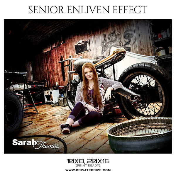 SARAH THOMAS- SENIOR ENLIVEN EFFECT - Photography Photoshop Template