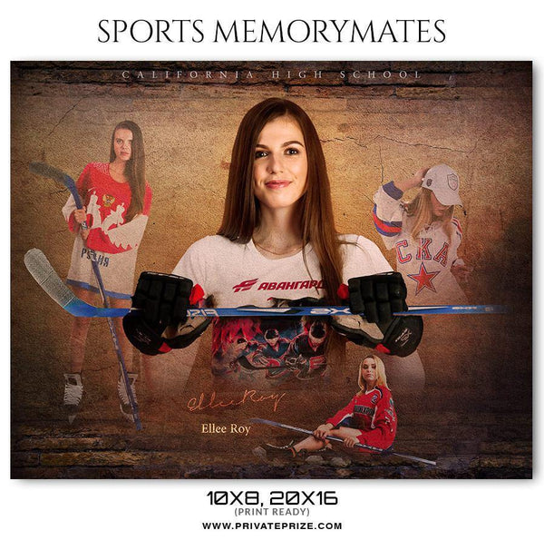 Ellee Roy - Ice Hockey Memory Mate Photoshop Template