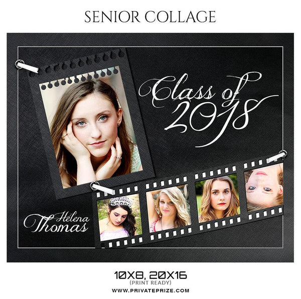 Helena Thomas - Senior Collage Photography Template - Photography Photoshop Template