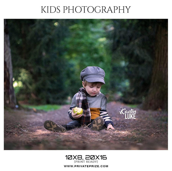 Kadin Luke - Kids Photography Photoshop Templates - Photography Photoshop Template