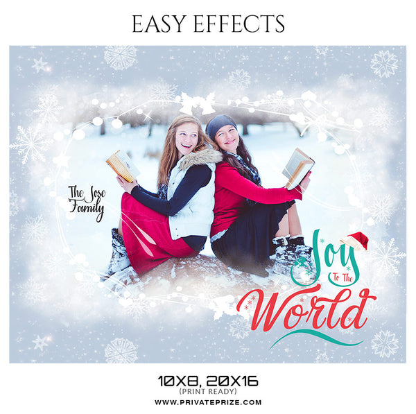 The Jose family - Christmas Easy Effects - Photography Photoshop Template