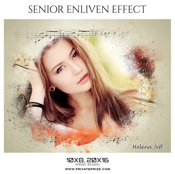 Helena Jeff  - Senior Enliven Effect Photography Template - Photography Photoshop Template