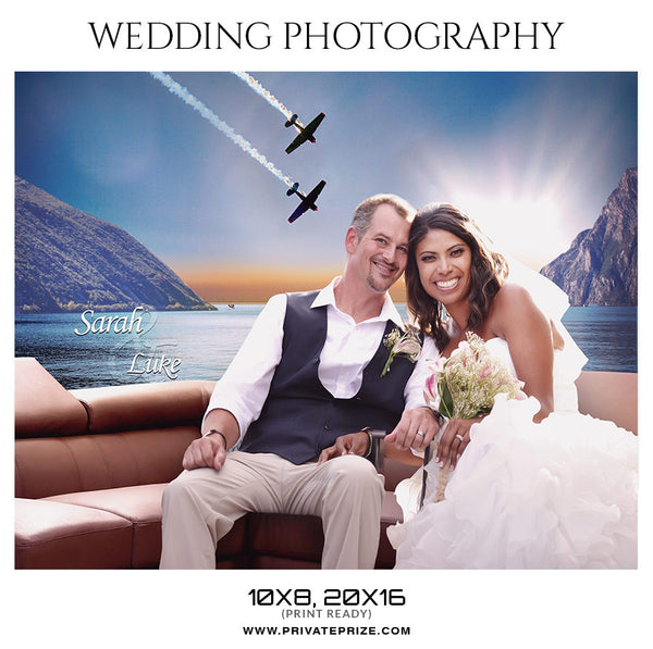 SARAH AND LUKE - WEDDING PHOTOGRAPHY - Photography Photoshop Template