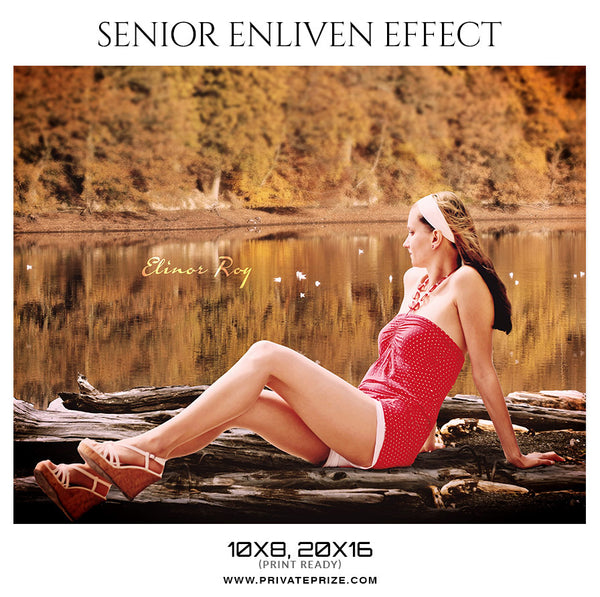 Elinor Roy  - Senior Enliven Effect Photoshop Template - Photography Photoshop Template