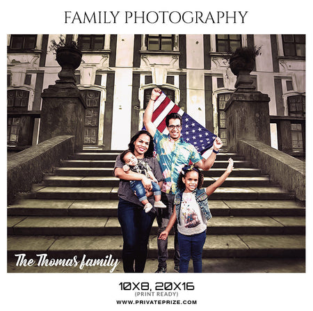 The Thomas Family - Family Photography - Photography Photoshop Template