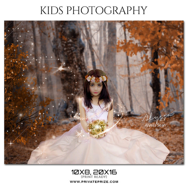 Alyssa Sean Kids Photography Photoshop Templates - Photography Photoshop Template