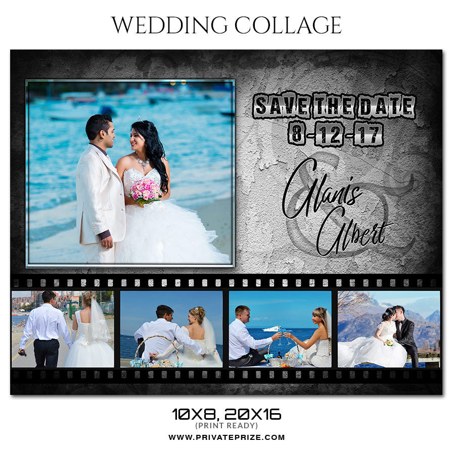 Eldon and Daisi - Wedding Collage
