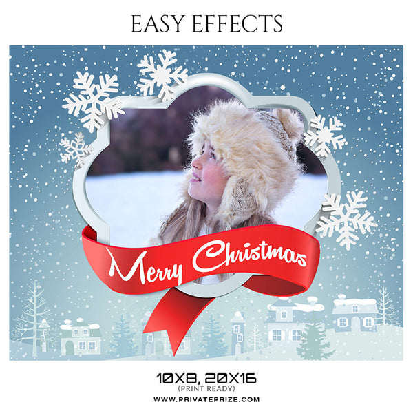 Christmas - Easy Effects - Photography Photoshop Template