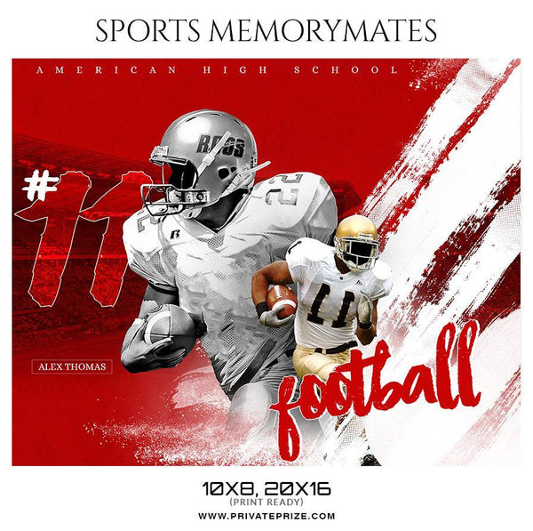 Alex Thomas - Football Memory Mate Photoshop Template