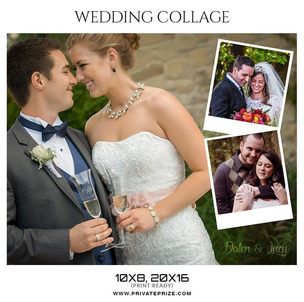 Dalen & Lucy - Wedding Collage - Photography Photoshop Template