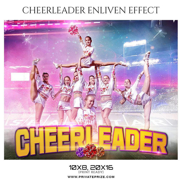Cheerleaders - Sports Themed Photography Template - Photography Photoshop Template
