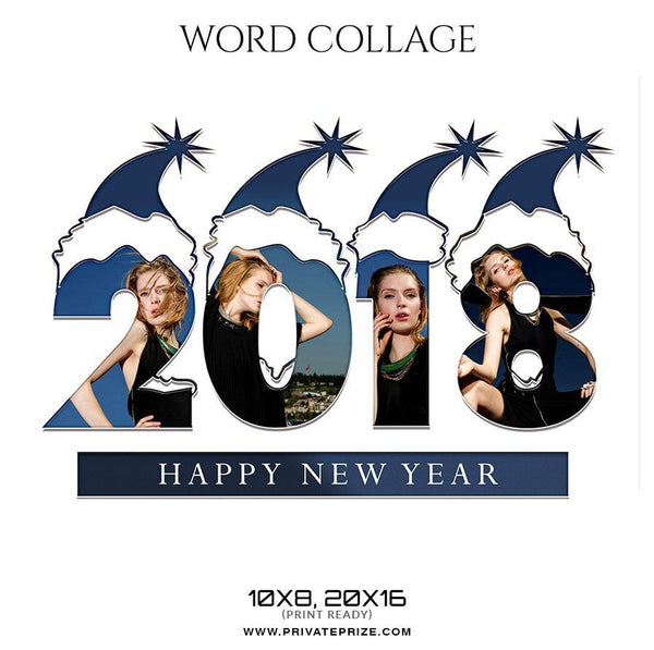 2018  - Word Collage - Photography Photoshop Template