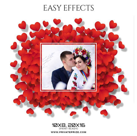 Couples Valentine's Easy Effects Templates - Photography Photoshop Template