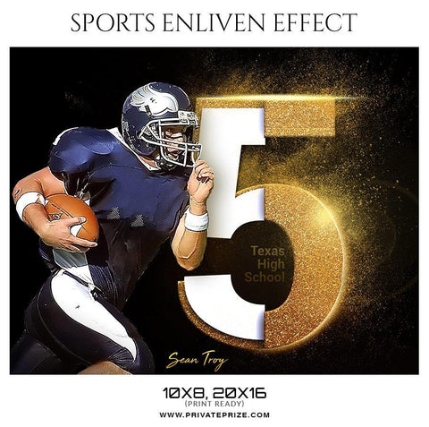 Sean Troy  - Football Sports Enliven Effects Photography Template