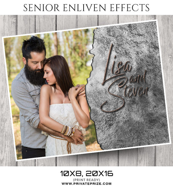 Lisa & Steven- Senior Enliven Effects - Photography Photoshop Template
