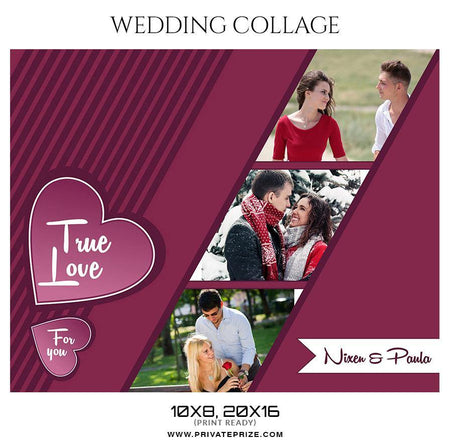 Nixen and Paula - Valentine's Wedding Collage Templates - Photography Photoshop Template