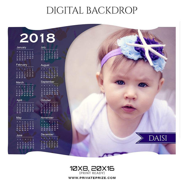 Daisi - Digital backdrop - Photography Photoshop Template
