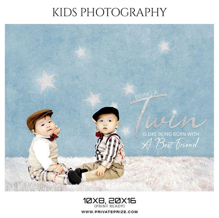 Twins - Kids Photography Photoshop Templates - Photography Photoshop Template