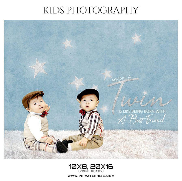 Twins - Kids Photography Photoshop Templates