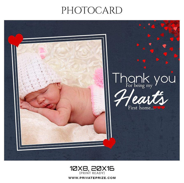 Heart - Photo card - Photography Photoshop Template