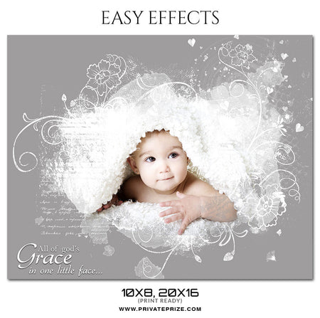 BABY FACE - EASY EFFECTS KIDS PHOTOGRAPHY - Photography Photoshop Template