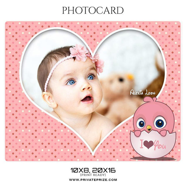 Alexia Leon - Photo card - Photography Photoshop Template