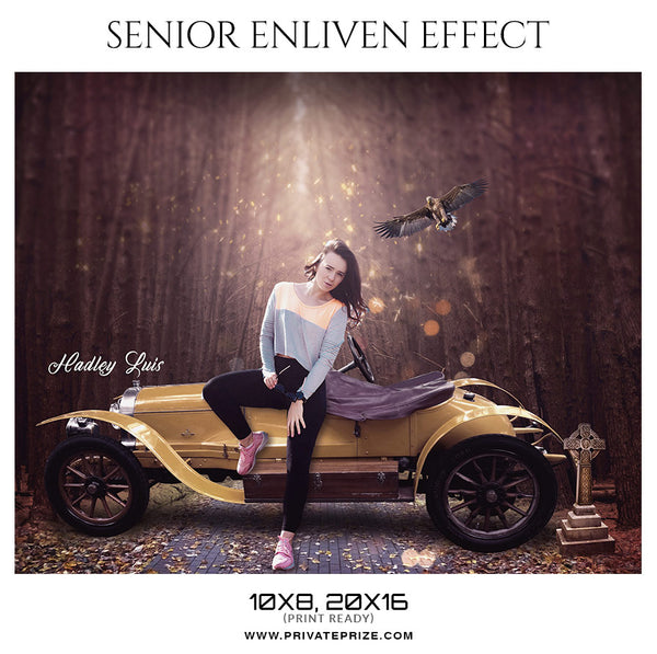 Hadley Luis - Senior Enliven Effect Photography Template - Photography Photoshop Template
