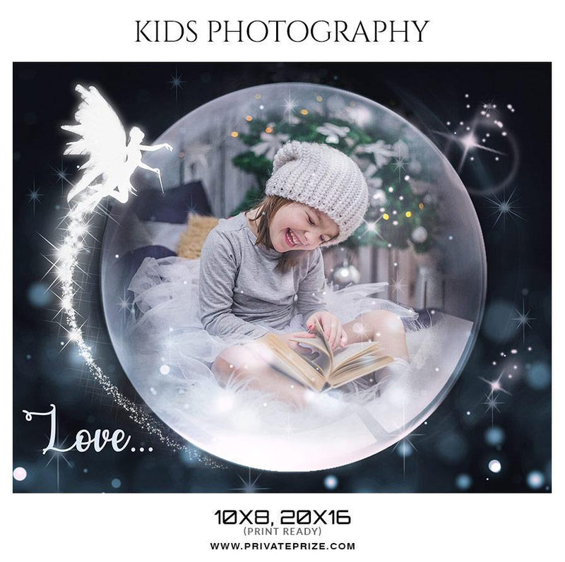 Love Kids Photography Photoshop Template