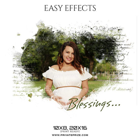 Blessings - Easy Effects - Photography Photoshop Template