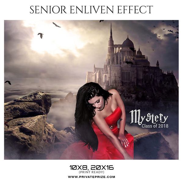 MYSTERY - SENIOR ENLIVEN EFFECT - Photography Photoshop Template