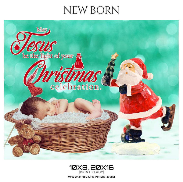 Christmas - New Born Photography - Photography Photoshop Template