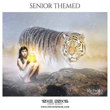 Richelle Thompson - Senior Themed Photoshop Template - Photography Photoshop Template