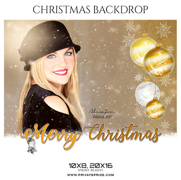 Alexa Jon - Christmas Digital Backdrop - Photography Photoshop Template