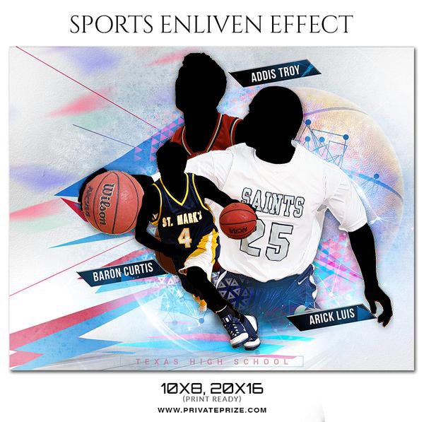 Addis Troy -  Basketball Sports Enliven Effects Photography Template