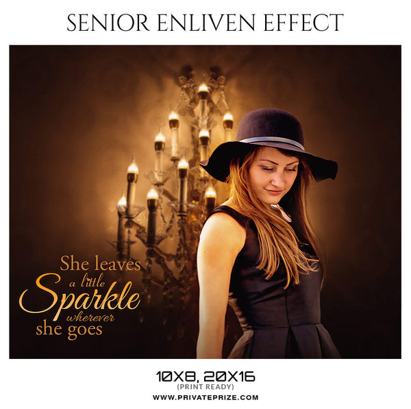 SPARKLE-SENIOR ENLIVEN EFFECT - Photography Photoshop Template