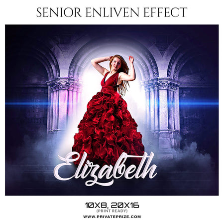 Elizabeth - Senior Enliven Photography Template - Photography Photoshop Template