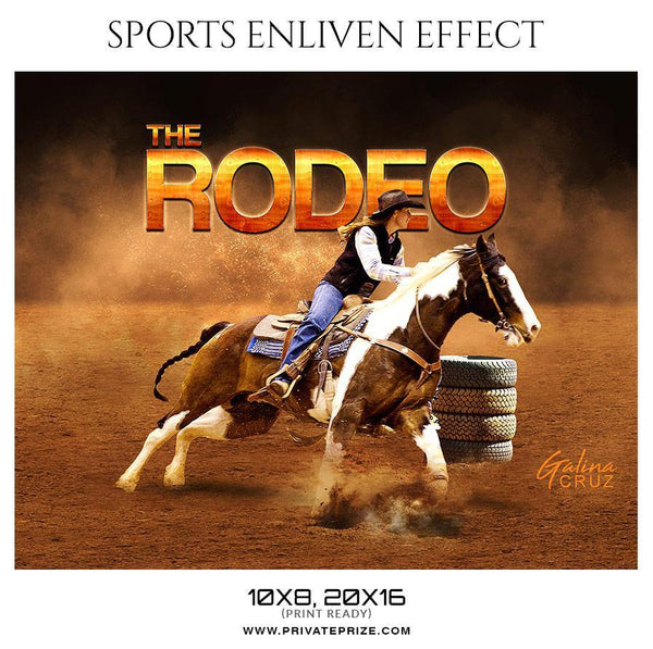 Galina Cruz - Rodeo Sports Enliven Effects Photography Templates