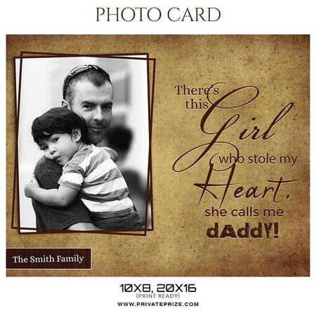 The Smith Family - Father's Day Photocard - Photography Photoshop Template