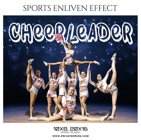 Cheerleader - Sports Enliven Effect Photoshop Template - Photography Photoshop Template