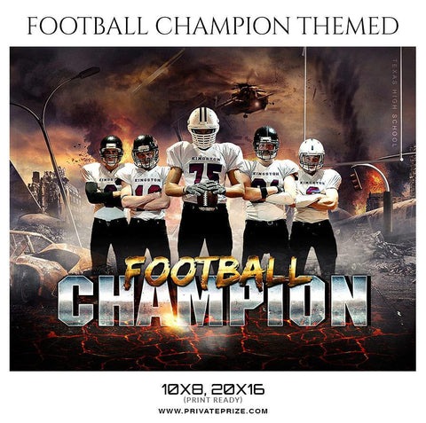 Football Champion - Themed Sports Photography Template