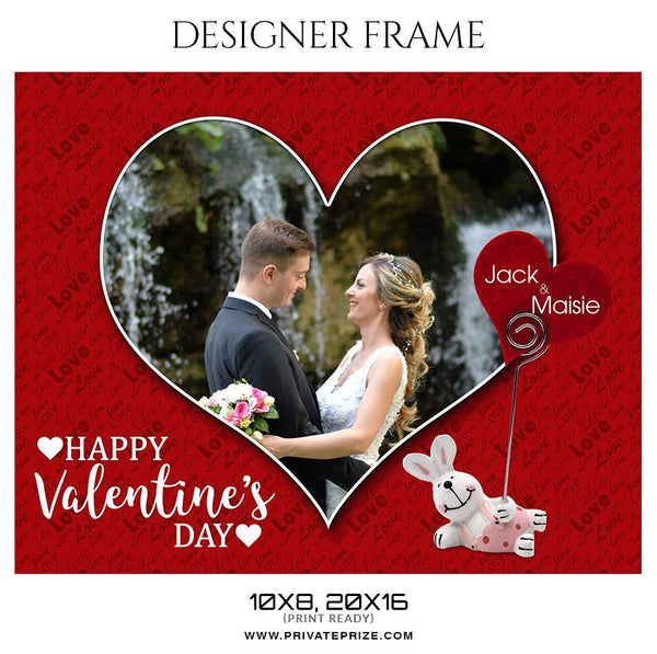 Jack and Maisie - Valentine's Designer Frame Templates - Photography Photoshop Template