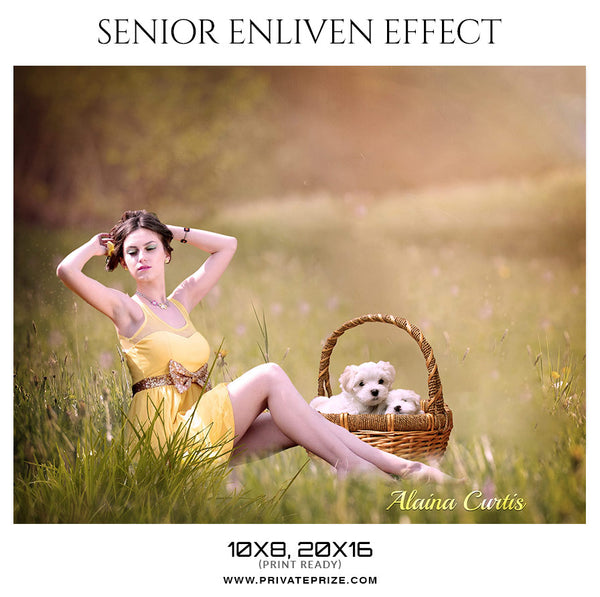 Alaina Curtis - Senior Enliven Effect  Photoshop Template