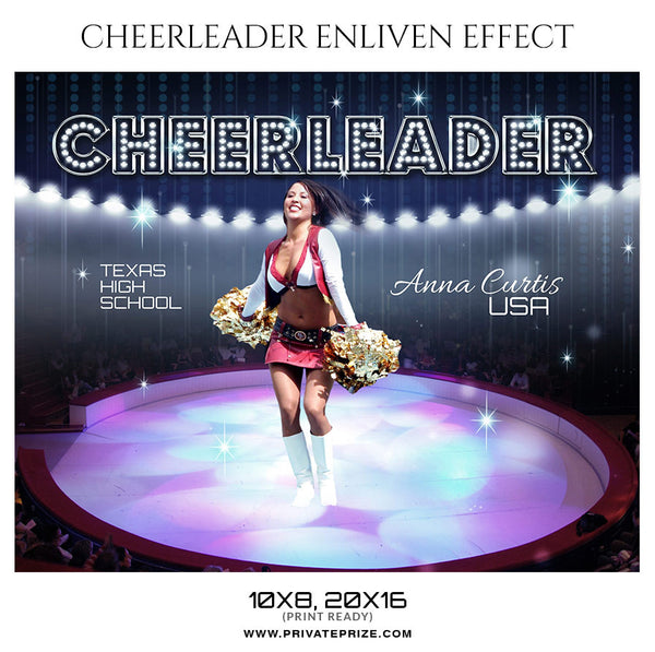 Cheerleader  PHOTOGRAPHY TEMPLATE