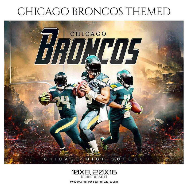 894a2d14f4d2 Chicago Bronco - Football Themed Sports Photography Template